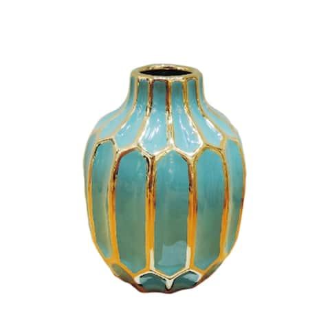 Ceramic Vase, Turquoise