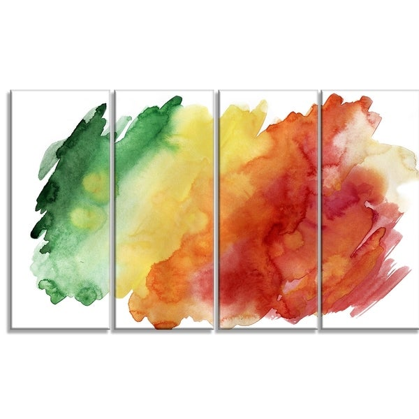 Designart - Color Explosion -4 Panels Abstract Canvas Art Print