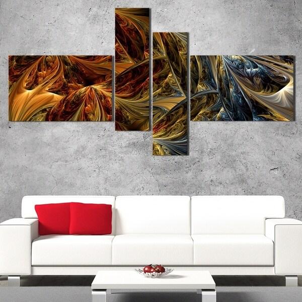 DesignArt 'Molten Gold' Large Modern Canvas Art