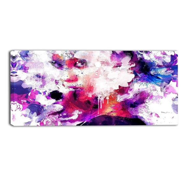Design Art 'Abstract Beauty' Sensual Canvas Art Print - 40x20 Inches