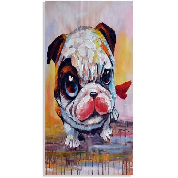 Design Art 'Baby Bulldog' 40 x 20 Canvas Art Print