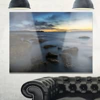 Bluish Sunset at La Perouse Sydney - Large Seashore Glossy Metal Wall Art