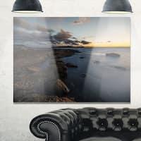 Sunset at La Perouse Beach Sydney - Large Seashore Glossy Metal Wall Art