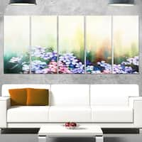 Designart 'Pink Sakura Flowers in Soft Color' Flower Glossy Metal Wall Art Artwork