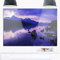 Coniston Water in the Lake District - Landscape Glossy Metal Wall Art