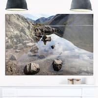 Stunning Wast Water Reflection - Landscape Glossy Metal Wall Art