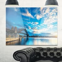 Sunrise from Sydney Harbor Bridge - Large Seashore Glossy Metal Wall Art