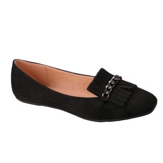 BETANI EL82 Women's Chic Slip On Fringe Chains Flats Loafers