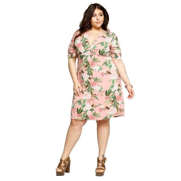 Shop Xehar Womens Plus Size Floral Summer Evening Party ...