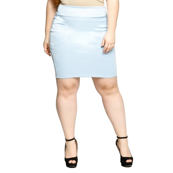 3406290cbf436 Shop Xehar Womens Plus Size High Waisted Short Mini Bodycon Pencil ...