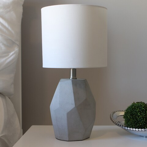Jamison Grey Cement Geo Table Lamp