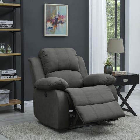 ProLounger Power Wall Hugger Recliner Chair-Grey Microfiber