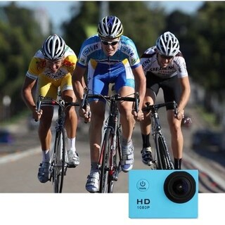 Full HD Waterproof Sports DV Camera Action Camcorder 1080P Car Cam (Option: Blue)