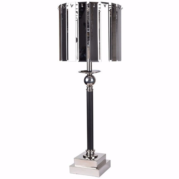 Sumptuous Cabrini Lamp with Smoked Glass Shade