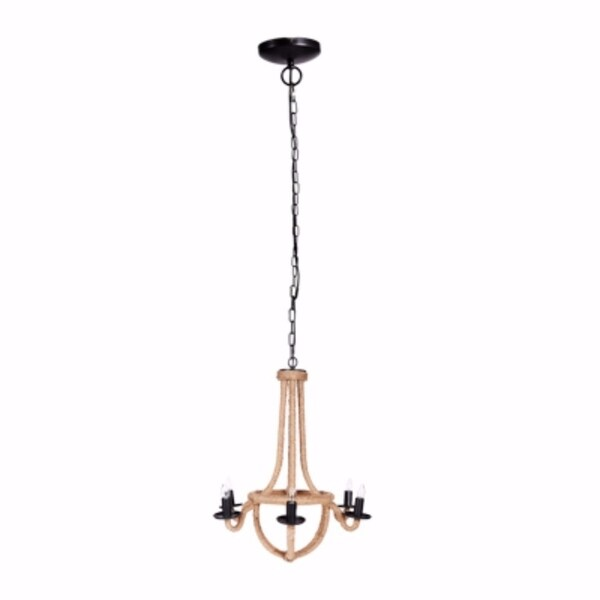 Solid Iron Spray 6-Light Chandelier, Gold and Black - Gold and Black
