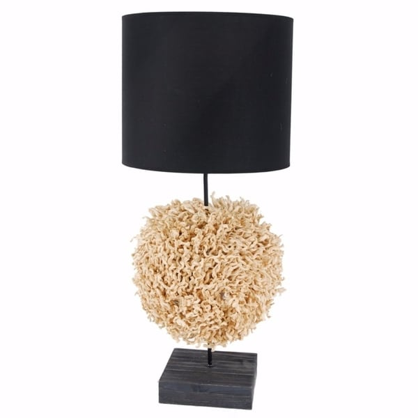 Contemporary Style Corn Stalk Table Lamp, Black