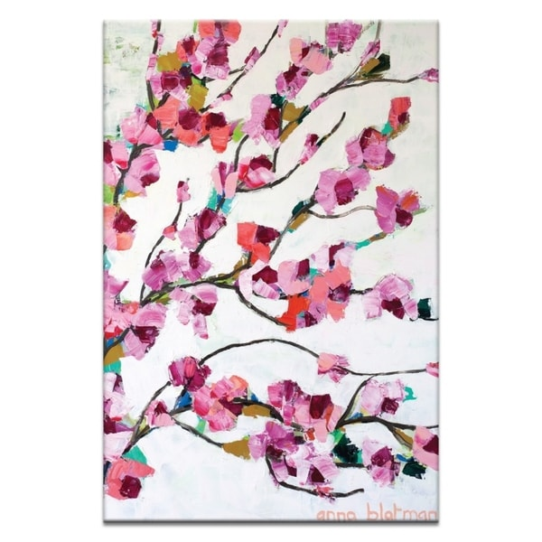 Artist Lane 'Pink Magnolia' by Anna Blatman Canvas Print Wall Art