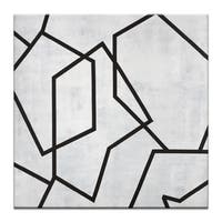 Artist Lane 'Gerometric 5' by Chalie Macrea Canvas Print Wall Art