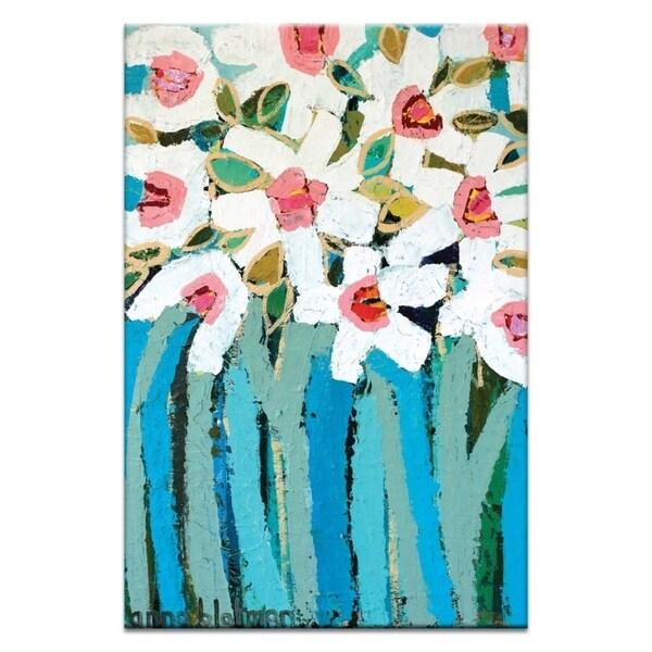 Artist Lane 'Blue Stems' by Anna Blatman Canvas Print Wall Art