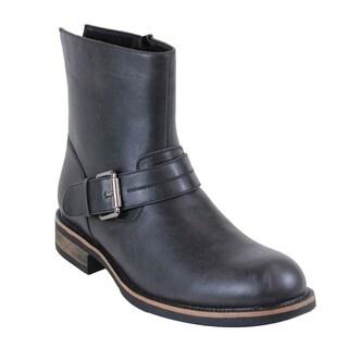 Arider FP45 Men's Side Zipper Block Heel Ankle High Booties