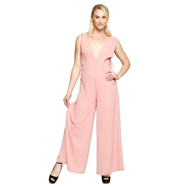 9c86d826a93 Xehar Womens Sleeveless Wide Leg Long Flare Romper Playsuits Jumpsuits