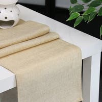 Aiking Home Natural Faux Linen Unlined Table Runner-Size 12''x 62'' Cream
