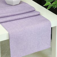Aiking Home Natural Faux Linen Unlined Table Runner-Size 12''x 62'' Lavendar