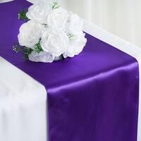 Satin Table Runner 12 x 108 Wedding Party Banquet Purple