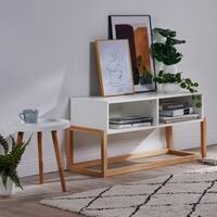Versanora White/Natural TV Stand