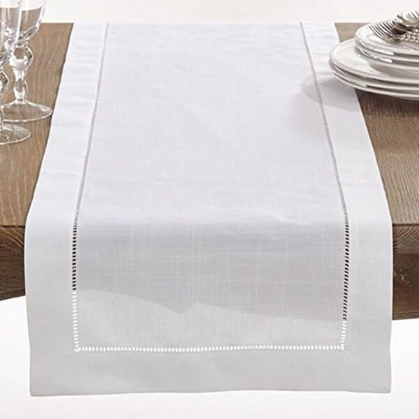 Shop Hemstitched Border Table Runner Linen Cotton 16 X