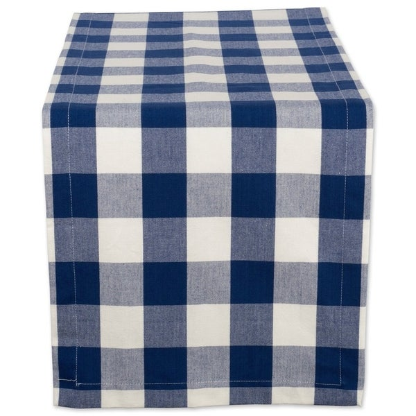 Shop 14x108 Quot Cotton Table Runner Navy And Cream Buffalo