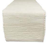 "Cotton Chindi Rag Table Runner, 14 X 72"" Natural"