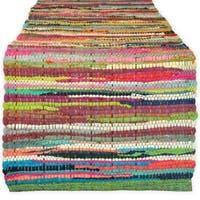 "Cotton Chindi Rag Table Runner, 14 X 72"" Multicolor"