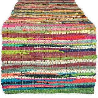 "Cotton Chindi Rag Table Runner, 14 X 72"" Multicolor"