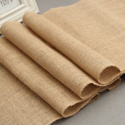 Burlap Hessian Table Runner 12 x 108 Inch Color B