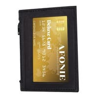AFONiE Bifold Credit Card ID Holder RFID Leather Wallet