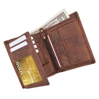 AFONiE Distressed RFID Blocking European Style Wallet