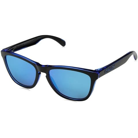 Oakley Frogskins Sunglasses Eclipse Blue/ Sapphire Iridium 55mm - Blue