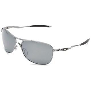 Oakley Crosshair Polarized Sunglasses Lead/ Black Iridium 61mm - Grey