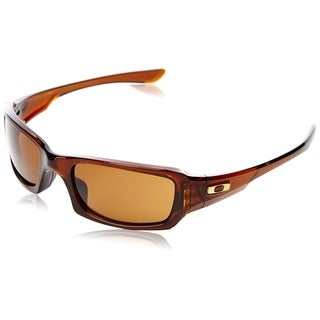 Oakley Fives Squared Sunglasses Polished Rootbeer/ Dark Bronze 54mm - Amber