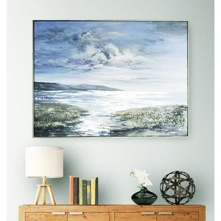"""""""Low Tide"""" 36 x 48 Framed Oil Painting on Canvas Art"""