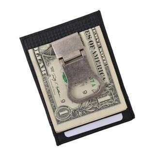 AFONiE Genuine Leather Drinking Money Clip Wallet