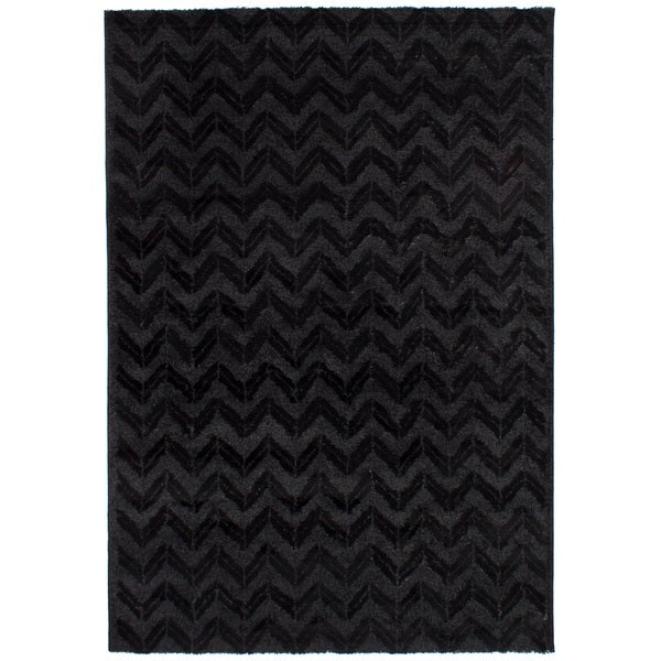 eCarpetGalley Soho Black Shag Rug