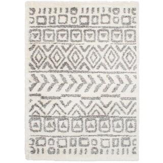 eCarpetGalley Soho Cream Shag Rug (6'7 x 9'7)