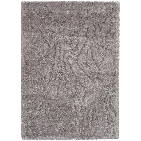 eCarpetGalley Soho Dark Grey Shag Area Rug