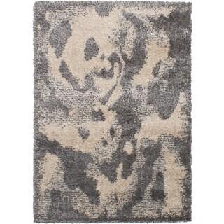 eCarpetGalley Soho Dark Grey Polypropylene Shag 5'3 x 7'8