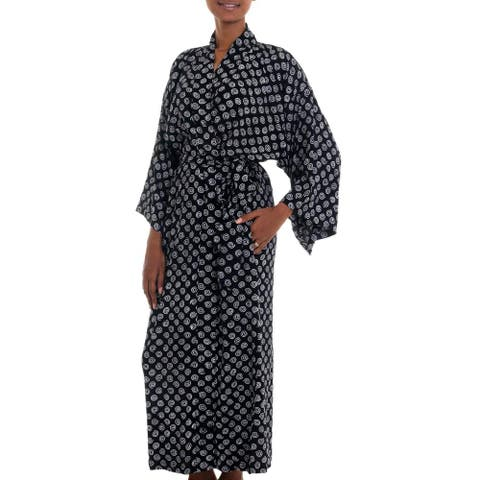 Handmade Rayon 'A Thousand Swirls' Robe (Indonesia)