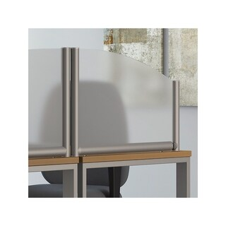 Bush Business Furniture 24W Side Desk Top Privacy Screen, Frosted