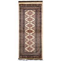 Handmade Herat Oriental Pakistani Hand-Knotted Tribal Bokhara Wool Runner (Pakistan) - 2'7 x 5'9