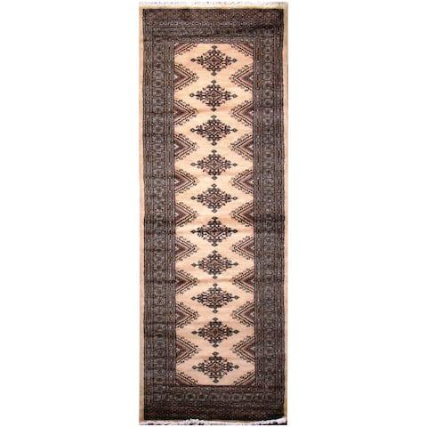 Handmade One-of-a-Kind Bokhara Wool Runner (Pakistan) - 2'8 x 7'7
